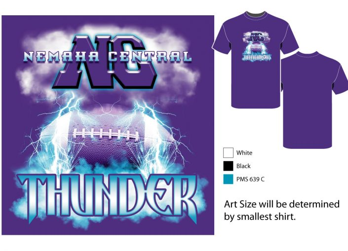 Thunder screenprint design