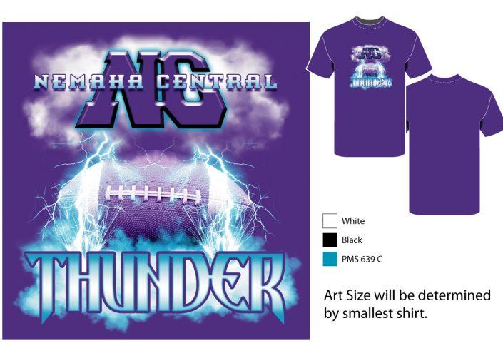 Thunder screenprint design