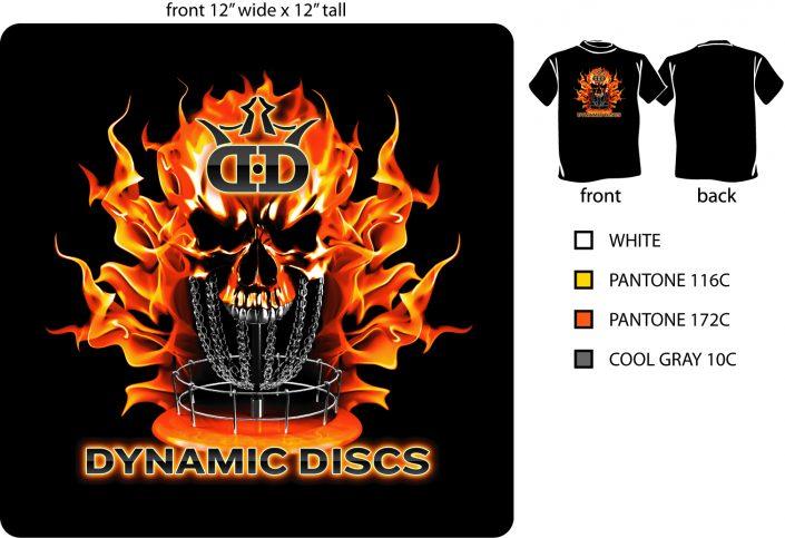 Dynamic Discs screenprint design