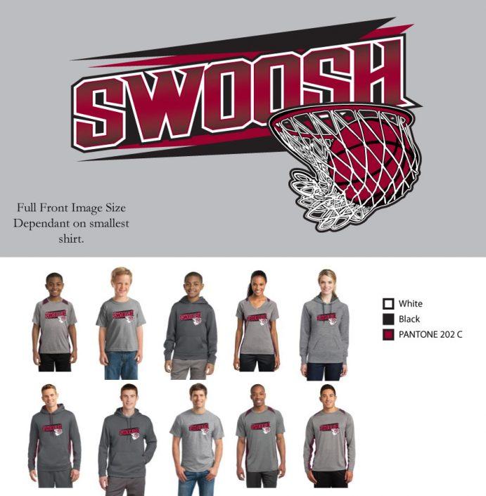 Swoosh screenprint design